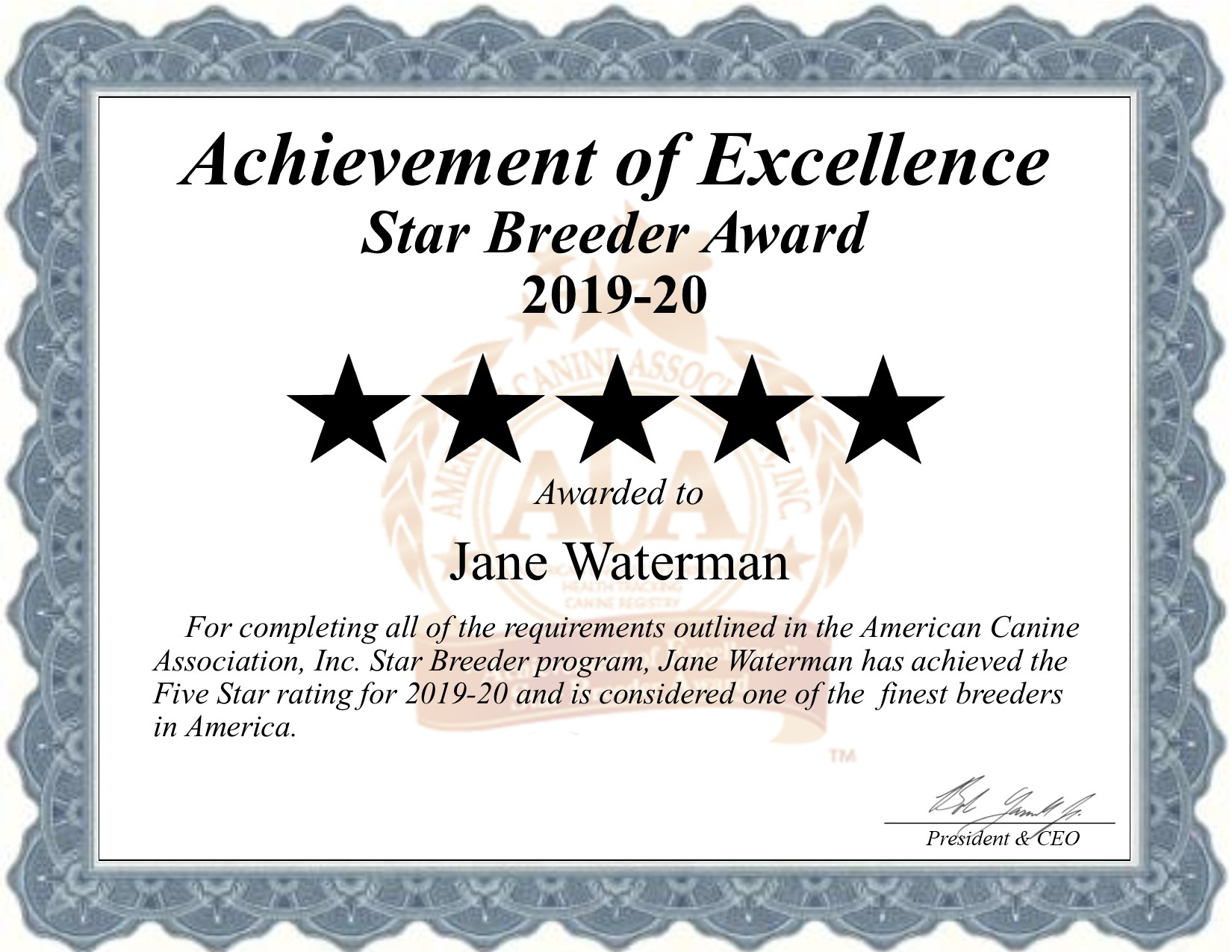jane, waterman, dog, breeder, certiifcate, atwood, ks, kansas, jane-waterman, dog-breeder, dogbreeder, kennel, reviews, customer, star, starbreeder, 5, five, USDA, puppy, puppies, ACA, inspection, inspections, reports, mill, puppymill, mills
